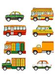 Jingle cars set Royalty Free Stock Photos