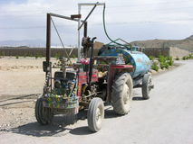 Jingle Tractor in Afghanistan Royalty Free Stock Photos