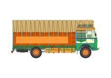 Jingle truck. Classic Indian jingle truck. Flat vector Royalty Free Stock Photo