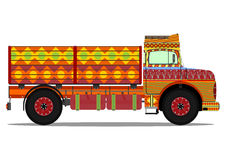 Jingle truck. The old jingle truck. Vector illustration without gradients on one layer Stock Image