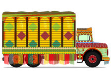 Jingle truck. The old jingle truck. Vector illustration without gradients on one layer Royalty Free Stock Photos