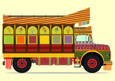 Jingle truck. The old jingle truck. Vector illustration without gradients on one layer Stock Photography