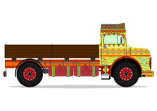 Jingle truck. The old jingle truck. Vector illustration without gradients on one layer Royalty Free Stock Image