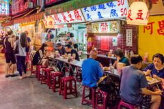Jingmei nocy targowej ulicy jedzenie Fotografia Royalty Free