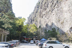 The Jingming Ravine scenery area parking lot Stock Images