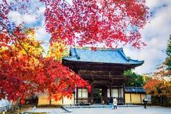 Jingo -jingo-ji is een Boeddhistische tempel in Kyoto Stock Afbeeldingen