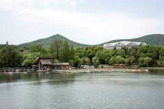 Jingshan lake Wharf Stock Images