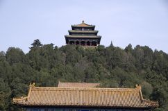 Jingshan Park Beijing, by forbidden city royalty free stock images