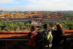 jingshan park för beijing porslin Arkivfoto