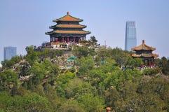 jingshan park för beijing porslincityscape Arkivfoton