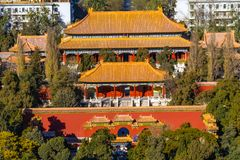 Jingshan Park Drum Tower Beijing China Overview stock photos