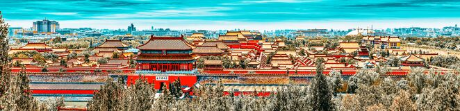 Free Jingshan Park,panorama Above On  The Forbidden City, Beijing Royalty Free Stock Image - 180781056