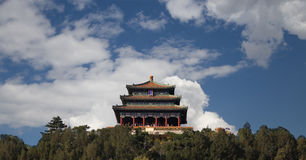 Jingshan Park--Wanchun Pavilion,  Beijing, China Stock Photo