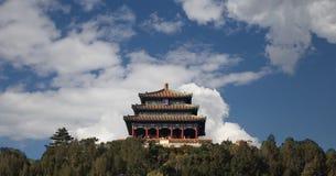 Jingshan park--Wanchun pawilon, Pekin, Chiny Zdjęcie Stock