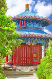 Jingshan parkerar, eller kolberget, nära Forbiddenet City, Gua Royaltyfria Foton