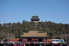 Jingshan parkerar i Peking Arkivfoton