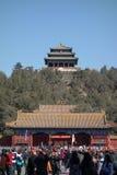 Jingshan parkerar i Peking Royaltyfri Foto