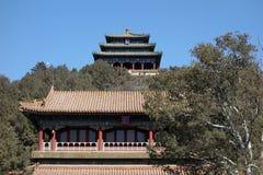 Jingshan parkerar i Peking Arkivbilder