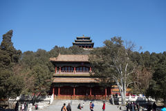 Jingshan parkerar i Peking Royaltyfri Bild
