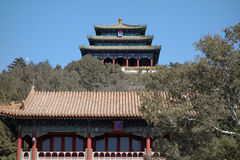 Jingshan parkerar i Peking Royaltyfri Fotografi
