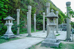 Jinguashi Shinto Shrine from Gold Museum, New Taipei City Government in Ruifang District, New Taipei City, Taiwan. Royalty Free Stock Image