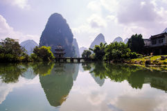 Jingxi scenery China Royalty Free Stock Image