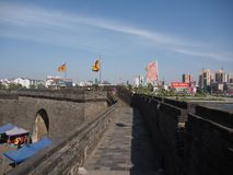 JIngzhou stadsvägg i den Jingzhou staden, Kina i 2015, 14th April Fotografering för Bildbyråer