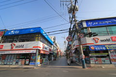Jinhae street view in South Korea Stock Image