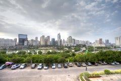 Jinhu fyrkant i huvudstaden av Guangxi Zhuang den autonoma regionen: Nanning Royaltyfria Bilder