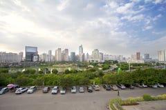 Jinhu fyrkant i huvudstaden av Guangxi Zhuang den autonoma regionen: Nanning Arkivfoton