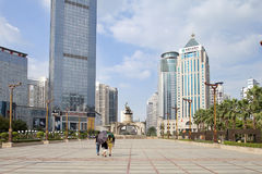 Jinhu square in the capital of the Guangxi Zhuang Autonomous Region: Nanning Royalty Free Stock Images