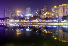Jinjiang River Night Sight, Srgb Image Royalty Free Stock Photography