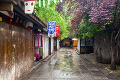 Jinli old streets scenery. Jinli streets are famous tourist spots in Chengdu, Sichuan, China stock photos