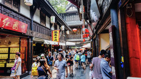Jinli Street in Chengdu, Sichuan, China Royalty Free Stock Photography