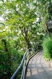 Jinling corner of the garden. Here is China Nanjing Yanziji park one along the Yangtze River road. The path on the edge of the railing to protect the safety of Royalty Free Stock Photo