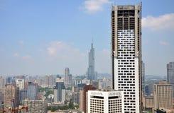 Jinling Hotel, City center of Nanjing, China Royalty Free Stock Photography