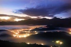 Jinlong mounain sunrise, Taiwan Royalty Free Stock Image