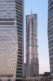Jinmao tower in Lujiazui in Shanghai, China Royalty Free Stock Images
