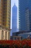 Jinmao Tower in Shanghai. Jinmao Tower, 420-meter-high building in Shanghai, China Stock Photos