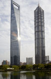 Jinmao tower and Shanghai world finance center Stock Photo
