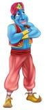 Jinn ou posição amigável dos génios ilustração royalty free