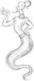Jinn. On a white background royalty free illustration