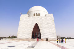 Jinnah Mausoleum dans la Karachi, Pakistan Photos stock