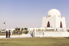 Jinnah Mausoleum em Karachi, Paquistão Fotografia de Stock