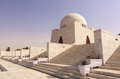 Jinnah Mausoleum in Karachi, Pakistan. This photo is taken in Karachi City, Pakistan. Mazar-e-Quaid, also known as the Jinnah Mausoleum or the National Mausoleum stock image