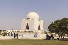 Jinnah Mausoleum in Karatschi, Pakistan Stockbilder