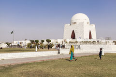 Jinnah Mausoleum in Karatschi, Pakistan Stockbild