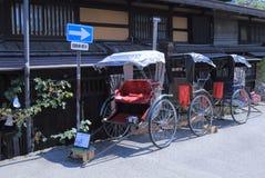 Jinrikisha Japan Arkivfoto