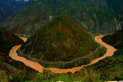 Jinsha river. China Yunnan Jinsha river. nature scenery stock photography