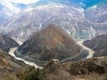 Jinsha River first Bay. Around mountain in yunnan province Stock Image